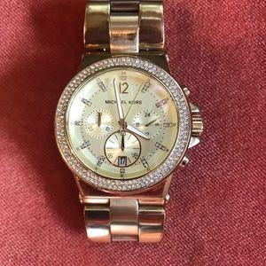 Michael Kors Ladies Chronograph Stone Set Watch
